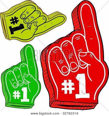 #1 foam fingers