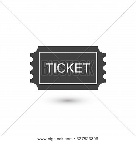 Ticket Icon. Pass, Permission or Admission Symbol, Vector Illustration Logo Template. Presented in Glyph Style for Design Websites, Presentation or Mobile poster