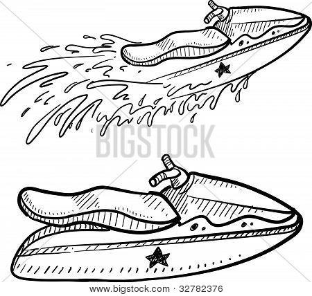 Jet ski sketch