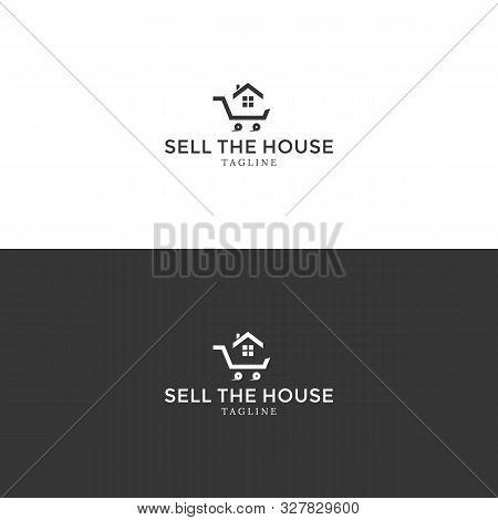 Vector Sell The House Logo. House Logo. Real Estate Logo. Selling House. Sell House. House Vector.