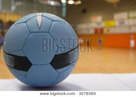 Close Up Of A Handball Ball