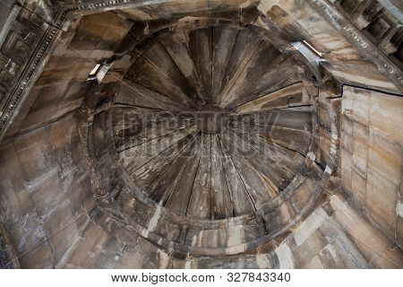 Athens, Greece - April, 2018: Interior Of The Tower Of The Winds Or The Horologion Of Andronikos Kyr