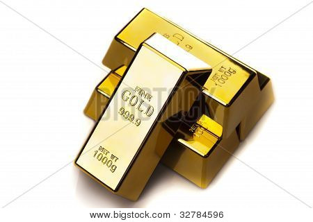 Photo of gold bars
