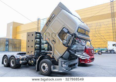 St. Petersburg, Russia - 2 October, Powerful Ecofuel Trucks, 2 October, 2019. International Annual G
