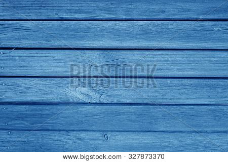 Old Grungy Wooden Planks Background In Navy Blue Color. Abstract Background And Texture For Design.