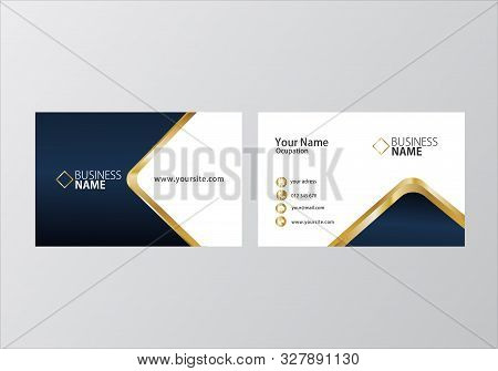 Golden Business Card, Two Sides Business Card