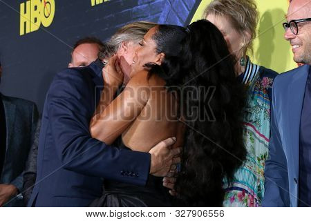 LOS ANGELES - OCT 14:  Don Johnson, Regina King, Damon Lindelof at the HBO's Watchman Premiere Screening at the Cinerama Dome on October 14, 2019 in Los Angeles, CA
