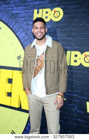 LOS ANGELES - OCT 14:  Sarunas Jackson at the HBO's Watchman Premiere Screening at the Cinerama Dome on October 14, 2019 in Los Angeles, CA