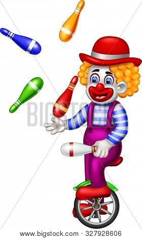 Funny Clown Atraction Cartoon For Your Design