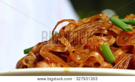 Stir-fried Noodle Thai Korat Style (pad Mee Korat), Thaistreetfood