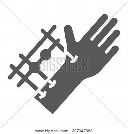 Fixation Joints Surgery Glyph Icon, Medical And Equipment, Hand Surgery Sign, Vector Graphics, A Sol