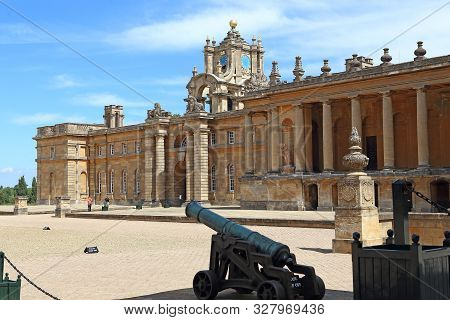 Woodstock, Great Britain - May 21, 2014: This Is A View Of The Right Wing Of Historic Blenheim Palac