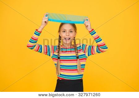 Professional Equipment. Comb For Tangled Hair. Hairdresser Supplies. Large Comb. Girl Long Hair Hold