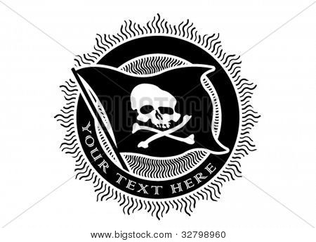 Pirate Seal in Black and White