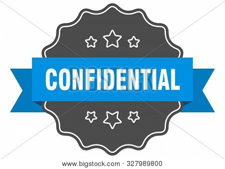 Confidential Blue Label. Confidential Isolated Seal. Confidential