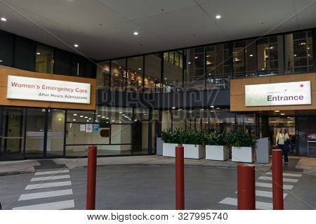 Melbourne, Australia - June 7, 2019: The Royal Womens Hospital Is A Specialist Maternity, Gynaecolog