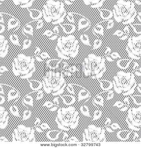 white lace seamless pattern on gray background