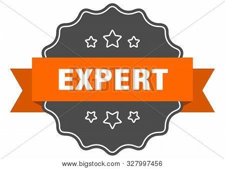 Expert Isolated Seal. Expert Orange Label. Expert