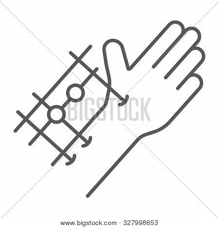 Fixation Joints Surgery Thin Line Icon, Medical And Equipment, Hand Surgery Sign, Vector Graphics, A
