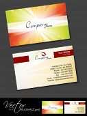 Professional business cards, template or visiting card set. Artistic colorful rays effect, abstract corporate look, EPS 10 Vector illustration. poster