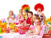Children happy birthday party . poster