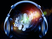 Headphones music background suitable as a backdrop for projects on music sound audiophile performance song party and entertainment poster