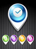 vector correct pointer icon design art poster