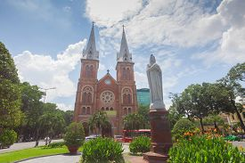 Saigon Notre-dame Cathedral In Ho Chi Minh City , Vietnam
