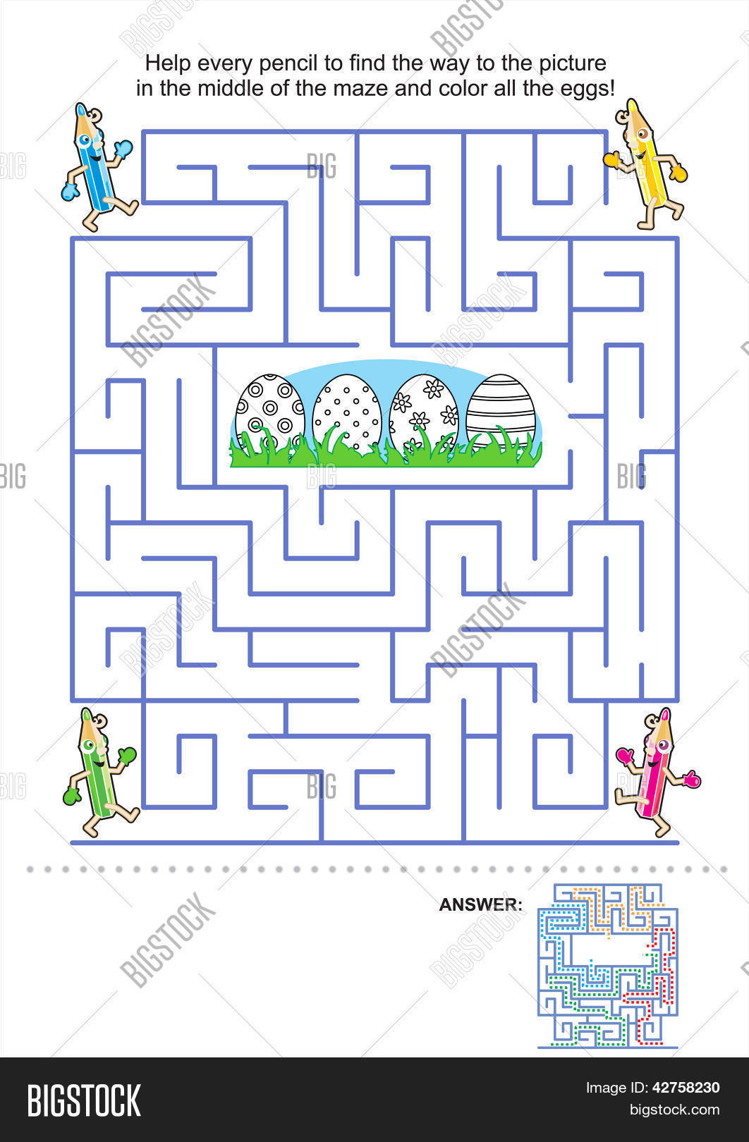 Printable Easter Maze - 018 - Coloring Home | 1620x1062