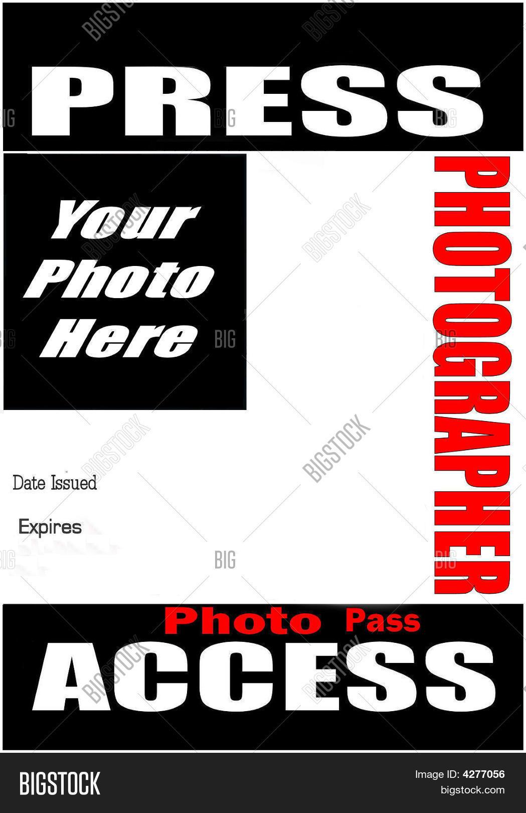 Blank Press Pass Image Photo Free Trial Bigstock