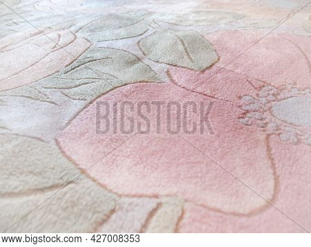 A Dreamy Floral Blanket In Pastel Colors.