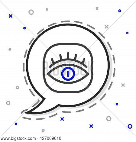 Line Masons Symbol All-seeing Eye Of God Icon Isolated On White Background. The Eye Of Providence In