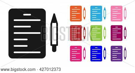 Black Scenario Icon Isolated On White Background. Script Reading Concept For Art Project, Films, The