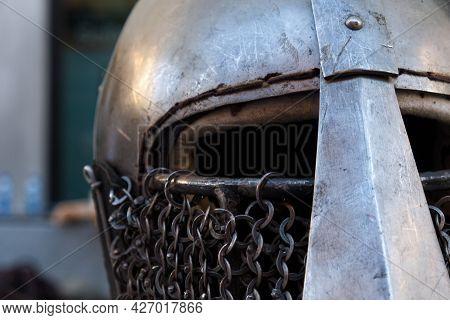 A Close Up Of A Helmet. High Quality Photo