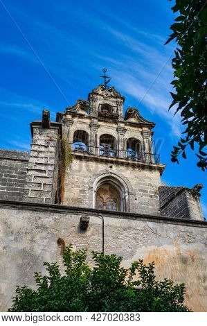 The Bell Tower Of The Church Of San Marcos. Jerez De La Frontera, Andalusia, Spain