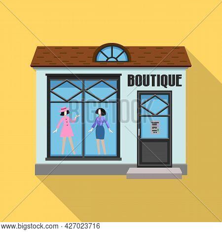 Store Vector Flat Icon. Vector Illustration Storefront On White Background. Isolated Flat Illustrati