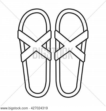 Flop Flip Vector Icon.outline Vector Icon Isolated On White Background Flop Flip.