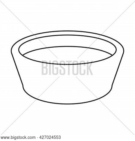 Wooden Basin Vector Icon.outline Vector Icon Isolated On White Background Wooden Basin.