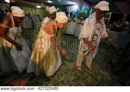 Religious Celebration Of Candomble Adepts