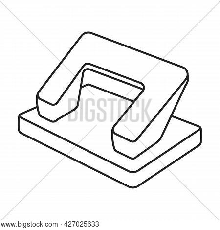 Puncher Paper Vector Outline Icon. Vector Illustration Hole Paper On White Background. Isolated Outl
