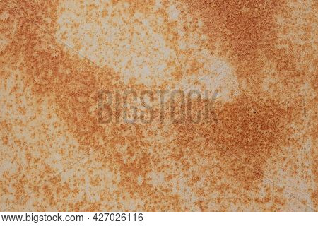 Rusty Grunge Wall, Rust Texture, Shabby Surface, Old Metal, Abstract Pattern, Rough Textured Backdro
