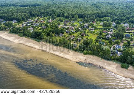 Aerial View On The Beach And The Baltic Sea In Latvia