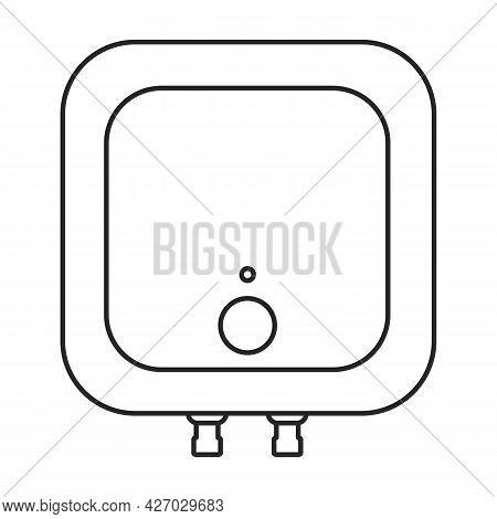 Heater Vector Outline Icon. Vector Illustration Boiler On White Background. Isolated Outline Illustr