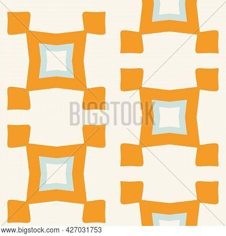 Summer Tropical Geometric Seamless Pattern. Bright Retro Geo Shape For Digital Scrapbook Paper And R
