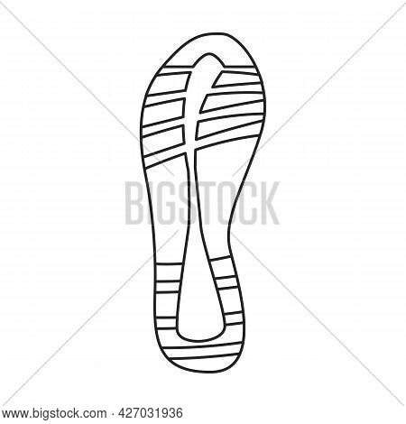 Footprint Vector Outline Icon. Vector Illustration Sole Print On White Background. Isolated Outline