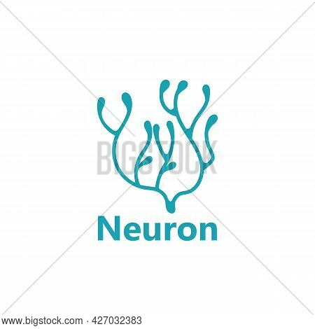Neuron Nerve Cell Or Coral Seaweed Logo Design
