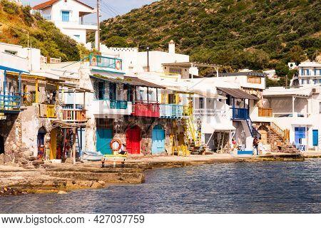 Klima, Greece, 31/05/2019.klima Fishermen Village On Milos Island - Most Colorful Fishing Village, W