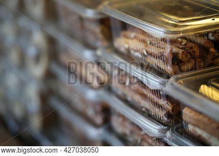 Broken Crackers, Floury Products And Bakery, Fresh Broken Crackers