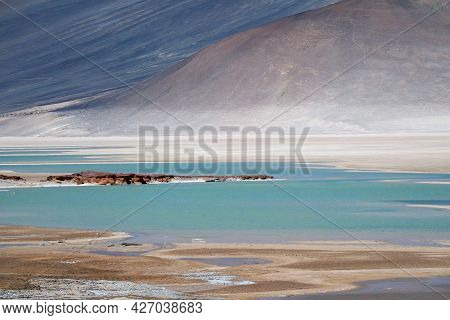Salar De Talar, Part Of A Series Of High Plateau Salt Lakes At The Altitude Of 3,950 M. Of Northern