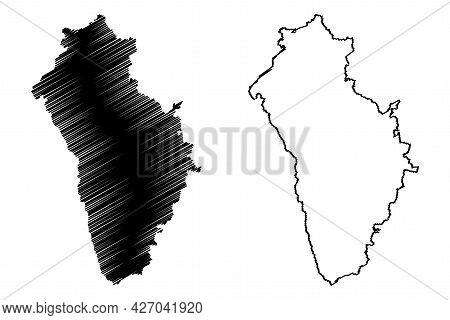 Neu-ulm District (federal Republic Of Germany, Rural District Swabia, Free State Of Bavaria) Map Vec